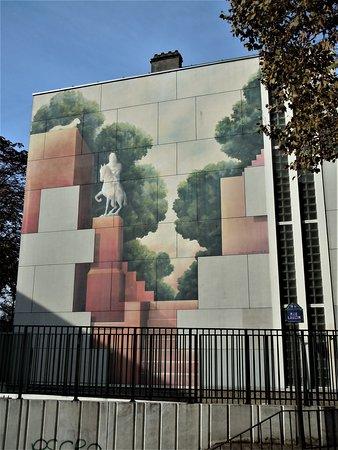 Fresque La Statue