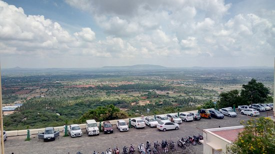 Tamil Nadu, India: View of the plains from the temple top