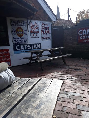 Chiddingly, UK: back of the pub