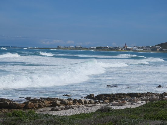 Lighthouse from the road entering L'Agulhas