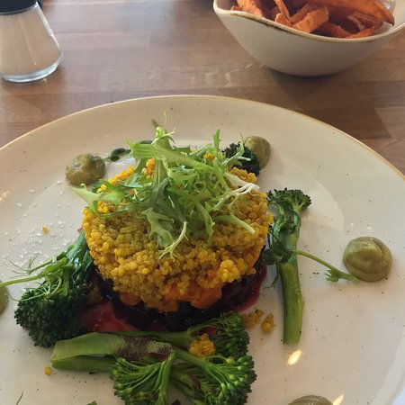 Zip World: Couple of vegan food options and super salad is great