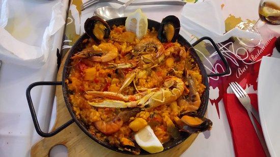 Pizzería Restaurante Palette: leckere Paella- Pfanne