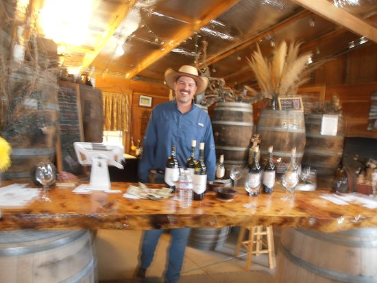 Fresno, Kalifornien: John at the tasting table