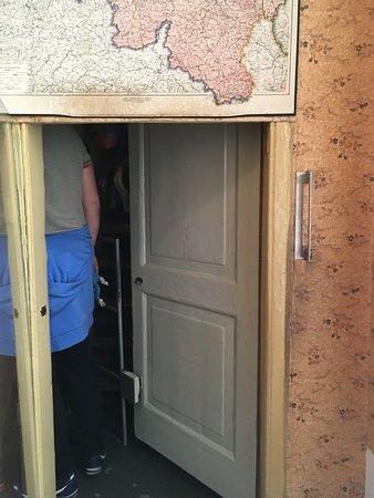 Anne Frank House: Secret door of the secret hiding part of the house