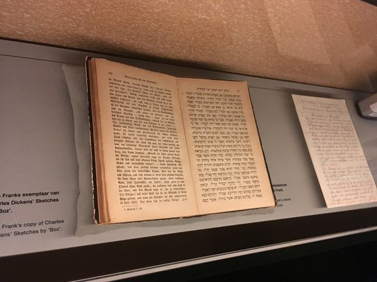 Anne Frank House: Anne's diary...her own hand writing