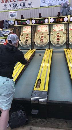 Funland: Skiball! $0.25 per game! We had a blast