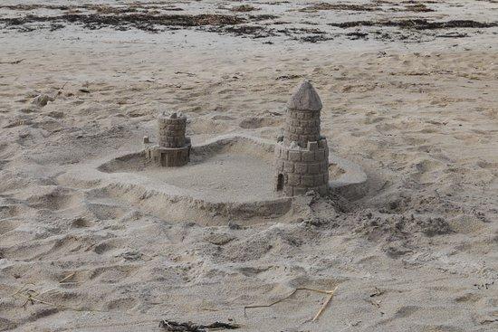 Parker River National Wildlife Refuge: sand castle on the beach