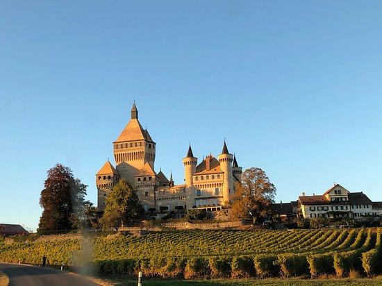 Vufflens-le-Chateau, Switzerland: Bei der Anfahrt