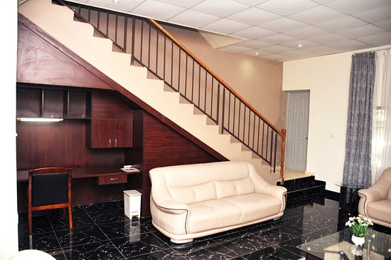 The Reading Alcove Staircase Of The 2 Bedroom Loft Style Apartment Picture Of Anabel Apartment And Suites Abuja Tripadvisor