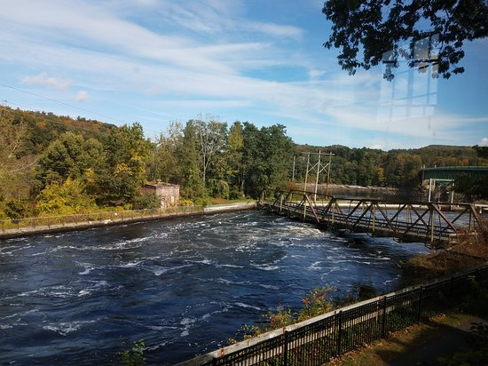 Turners Falls, MA: view from the back window of the Discovery Center