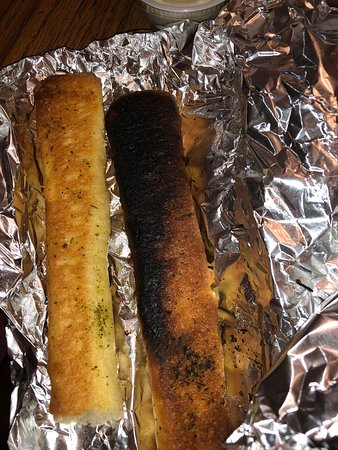 Blackwood, NJ: They actually thought it was OK to serve this disgusting example of Garlic Bread
