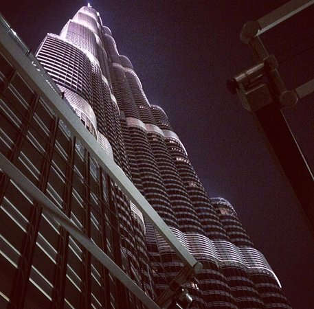 view from terrace with Burj Khalifa
