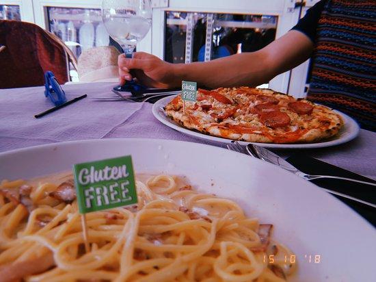 Da Pinocchio: Gluten free pizza and pasta
