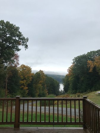 Enfield, NH: View from the deck (complete with rocking chairs)