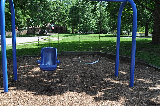 hawthorn park: harness swing and older child swing
