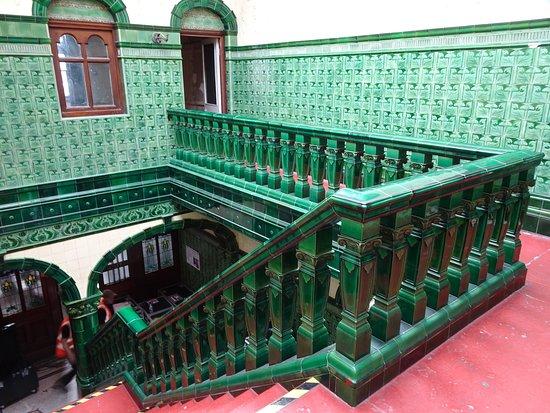 Victoria Baths: ceramic staircase