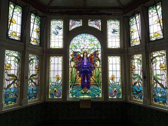 Victoria Baths: Club room window