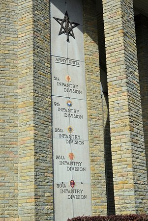 Battle of the Bulge Guided Tours : only one of the panels with units listed