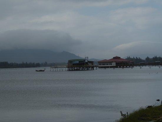 Ein Foto von der Lagune in Lang Co