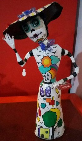 Local art for Day of the Dead.