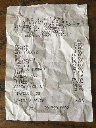 Rognano, Италия: il salasso
