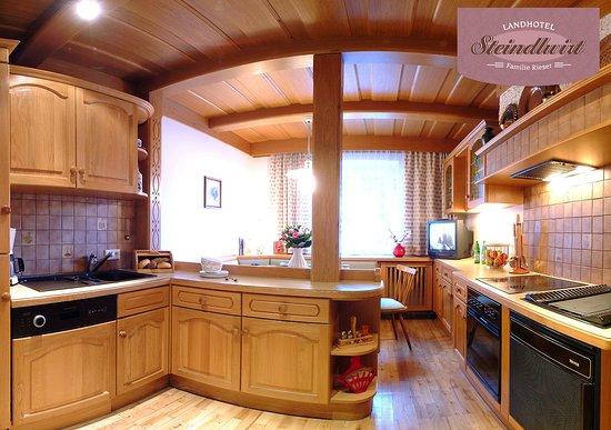 Appartement Küche im Landhotel Steindlwirt in Dorfgastein