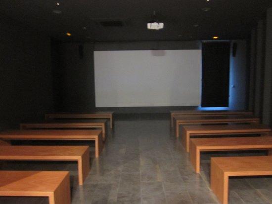 Les Borges Blanques, สเปน: Sala d'audiovisuals on es projecta 'La memòria i somni de Francesc Macià'