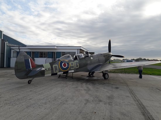 Biggin Hill, UK: 75 year old Spitfire. Still going strong.