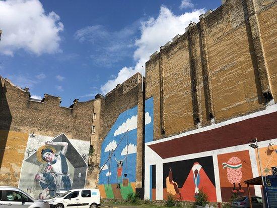 Street art during the tour