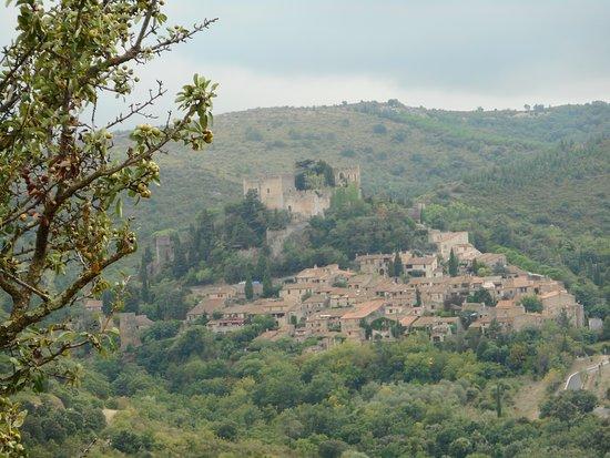 """Château de Castelnou """"  Village depuis le Belvédére """""""