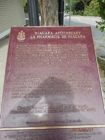 Niagara Apothecary Museum: Tablica informacyjna