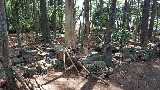 "Coastal Maine Botanical Gardens: ""Fairy Houses"" cropping up on a pleasant woodland trail"