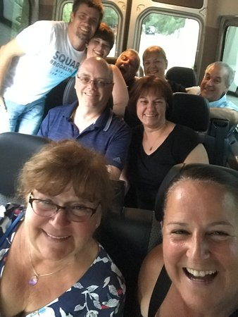 Selca, Croatia: Stanko and the group heading to Park Petrovac