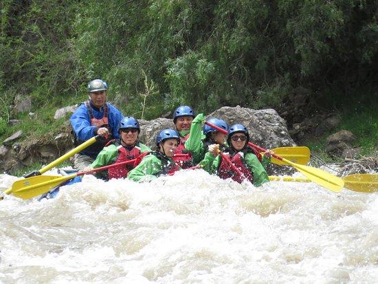 Ollantaytambo, Peru: canotaje en el rio urubamba
