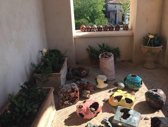 MuSea Museo Vivo del Mare di Pioppi: Composizioni sul balcone