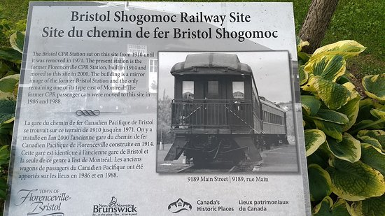 Florenceville-Bristol, Kanada: Rail Museum Signage