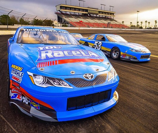 Irwindale, CA: Cars ready to go on track