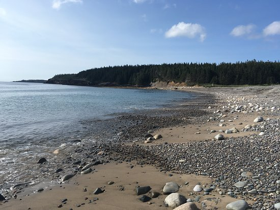 Riverport, Canada: Hirtle's Beach looking out at Gaff Point