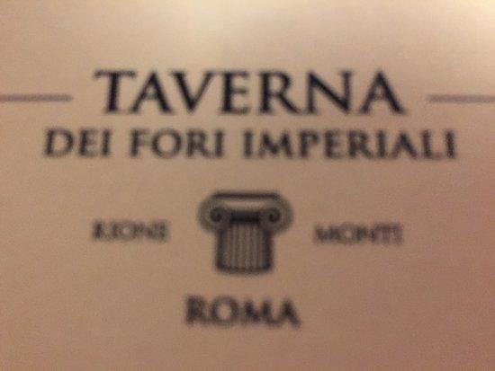 La Taverna dei Fori Imperiali: le restaurant à ne pas louper à Rome