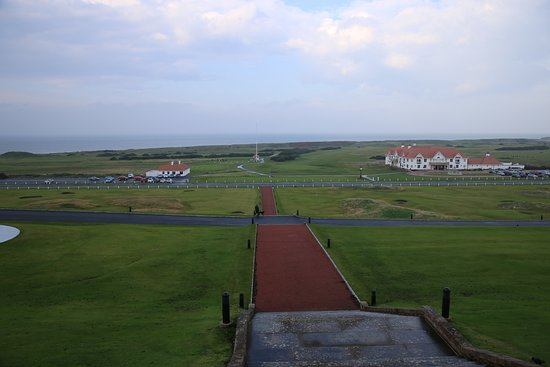 The view from Turnberry hotel, unfortunately on a wet day