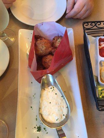 """Oceanside, NY: """"Bag of donuts"""" with shrimp and crab"""