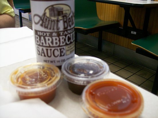 Aunt Bea's: The Sauces for your Meat to choose from.