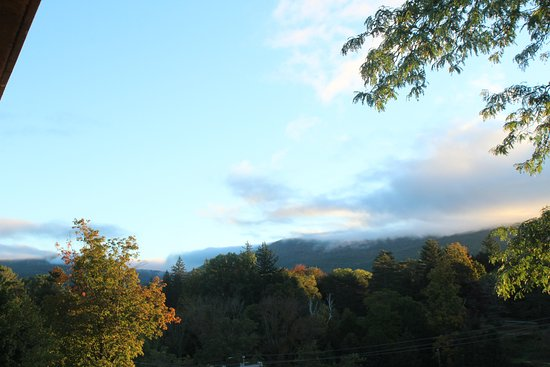 This is a view of mount Greylock from our balcony.