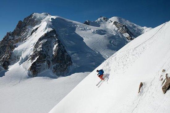 Dia esquiando em Chamonix saindo de...
