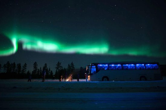 Northern Lights Chase by Bus