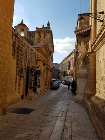 Mdina Old City: One of the main street inside the old town