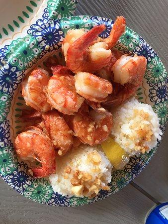 unpeeled very garliced mild shrimp