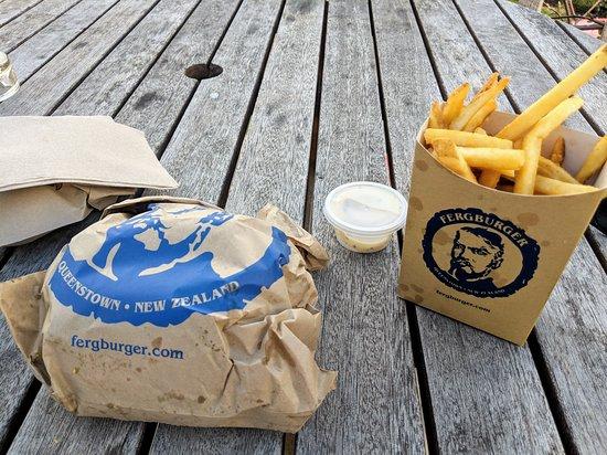 Fergburger: Burger and fries