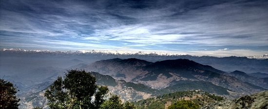 view from naina devi temple, rewalsar