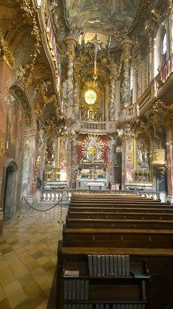 Asam Church: church interior